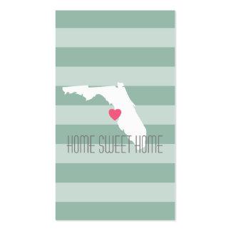 Amor do estado de origem de Florida com coração Cartão De Visita
