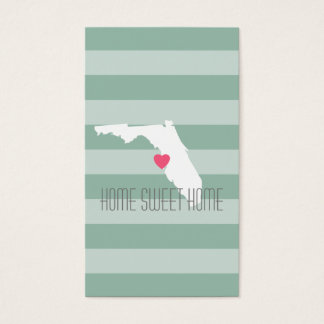 Amor do estado de origem de Florida com coração Cartão De Visitas
