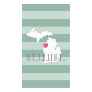 Amor do estado de origem do mapa de Michigan com Cartão De Visita