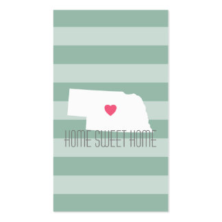Amor do estado de origem do mapa de Nebraska com Cartão De Visita