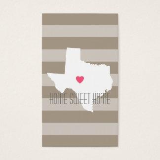 Amor do estado de origem do mapa de Texas com Cartão De Visitas