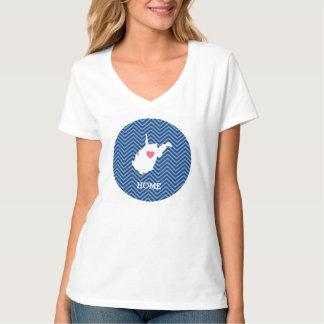 Amor do estado de origem do mapa de West Virginia Tshirts