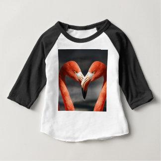 Amor do flamingo camiseta para bebê