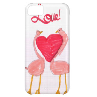 Amor do flamingo capa para iPhone 5C