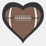 Amor do futebol adesivo de coração