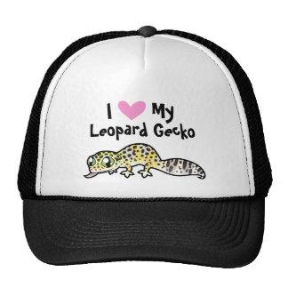 Amor do geco do leopardo boné