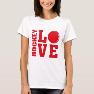 Amor do hóquei, t-shirt do hóquei em campo camiseta