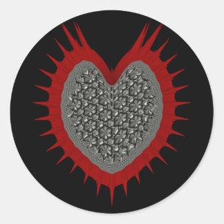Amor do metal adesivo redondo