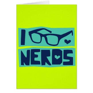 Amor do nerd cartão comemorativo