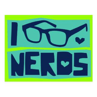 Amor do nerd cartão postal