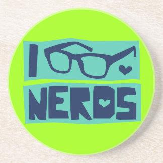 Amor do nerd porta copos de arenito
