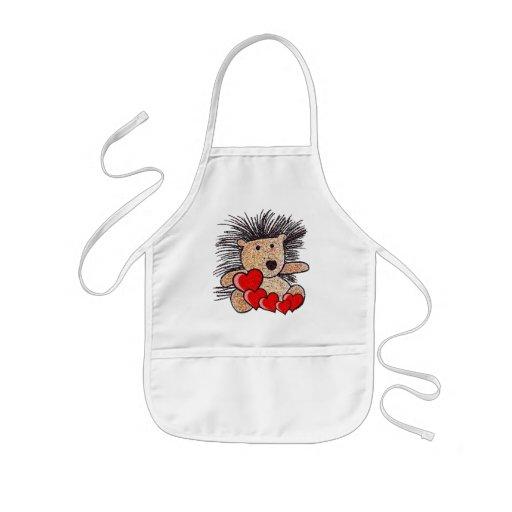 Amor do ouriço! avental