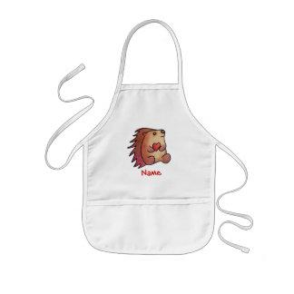 Amor do ouriço! avental infantil