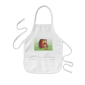 Amor do ouriço! Pinte a blusa! Avental Infantil