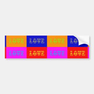 Amor do pop art adesivo para carro