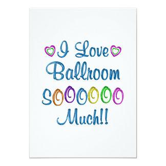 Amor do salão de baile tanto convite