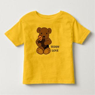 Amor do ursinho camiseta infantil