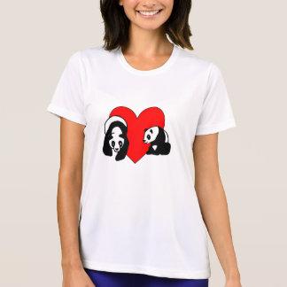 Amor do urso de panda camiseta