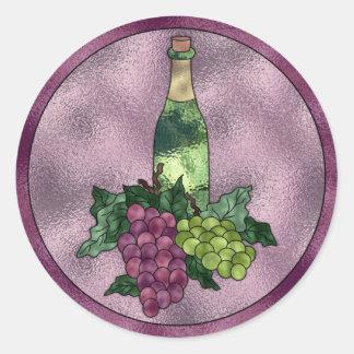 Amor do vinho adesivo