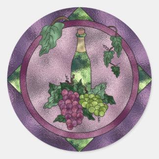Amor do vinho do vitral adesivo