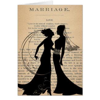 Amor do vintage & casamento Longfellow Wedding Cartão