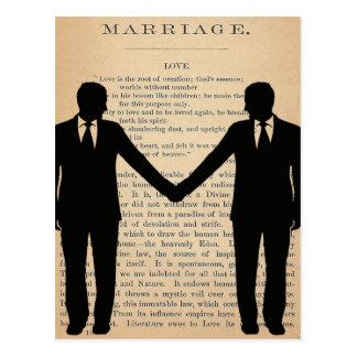 Amor do vintage & casamento Longfellow Wedding Cartão Postal