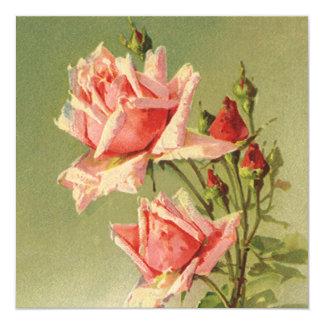 Amor do vintage, convite de festas cor-de-rosa dos