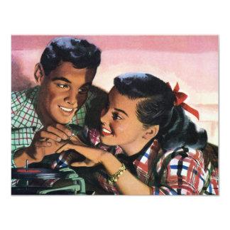 Amor do vintage, convite dos queridos do segundo
