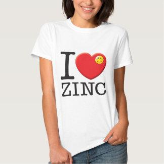 Amor do zinco camiseta