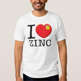 Amor do zinco t-shirts