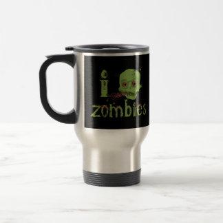 Amor do zombi caneca térmica