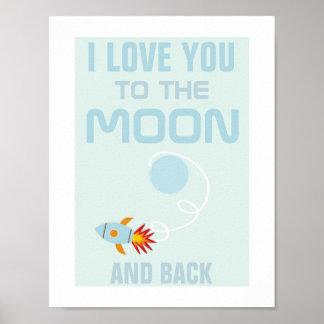 Amor dos miúdos você ao poster da lua pôster
