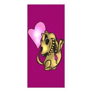 Amor Drooling do cão 10.16 X 22.86cm Panfleto