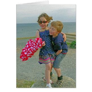amor e amizade cartão comemorativo