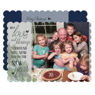 Amor e bênçãos - cartão de Natal