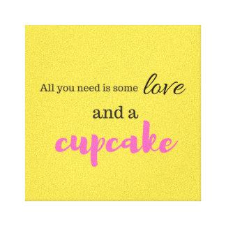 Amor e canvas do cupcake