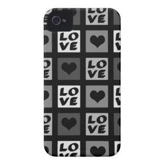 Amor e corações lunáticos do divertimento capas para iPhone 4 Case-Mate