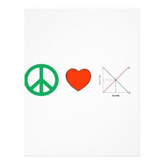 Amor e economia da paz panfleto coloridos
