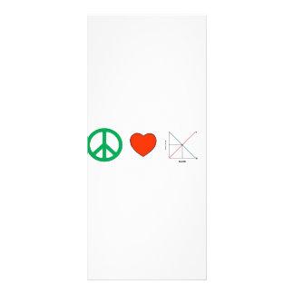 Amor e economia da paz panfleto informativo personalizado