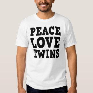Amor e gêmeos da paz tshirt
