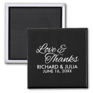 Amor e obrigado Wedding do favor do roteiro | dos Imã