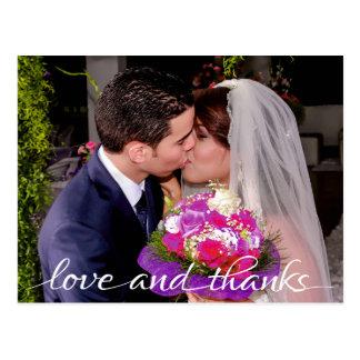 Amor e obrigados noiva & obrigado de Goom você Cartão Postal