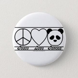 Amor e pandas da paz bóton redondo 5.08cm