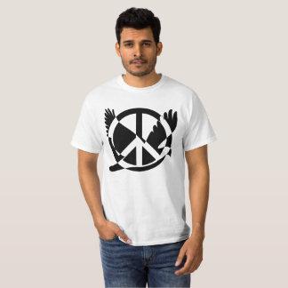Amor e paz camiseta