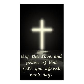 Amor e paz cartão de visita