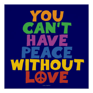 Amor e paz poster