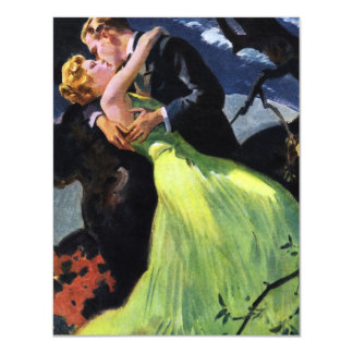 Amor e romance do vintage, convite romântico do