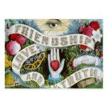amor e verdade da amizade modelo cartões de visitas