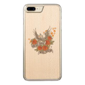 Amor Eagle para as capas de telefone de madeira