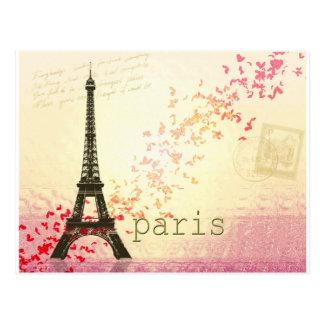 Amor em Paris Cartão Postal